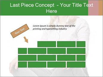 Sit woman PowerPoint Template - Slide 46