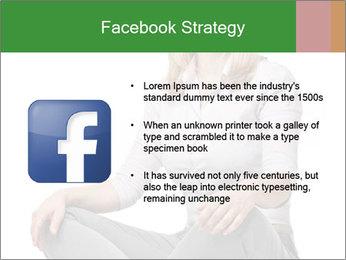 Sit woman PowerPoint Template - Slide 6