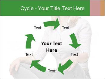 Sit woman PowerPoint Template - Slide 62
