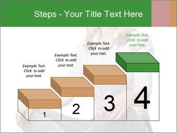 Sit woman PowerPoint Template - Slide 64
