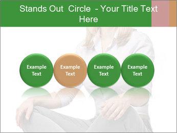 Sit woman PowerPoint Template - Slide 76