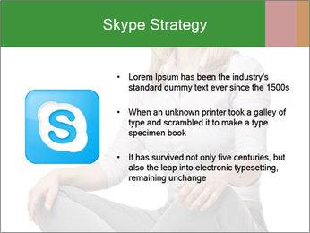 Sit woman PowerPoint Template - Slide 8