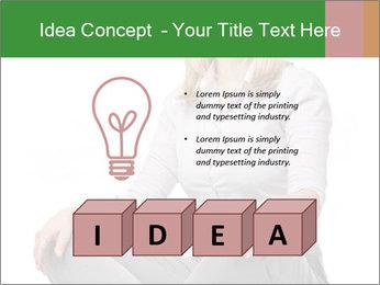 Sit woman PowerPoint Template - Slide 80