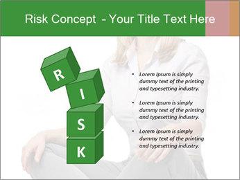 Sit woman PowerPoint Template - Slide 81