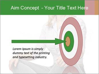 Sit woman PowerPoint Template - Slide 83