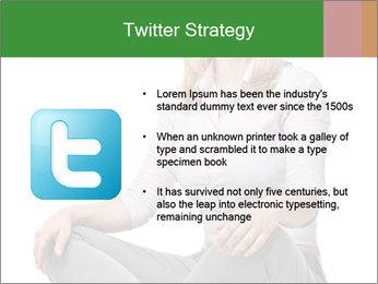 Sit woman PowerPoint Template - Slide 9