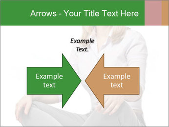 Sit woman PowerPoint Template - Slide 90