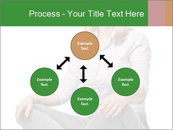 Sit woman PowerPoint Template - Slide 91