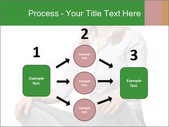Sit woman PowerPoint Template - Slide 92