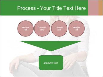 Sit woman PowerPoint Template - Slide 93