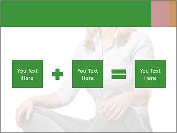 Sit woman PowerPoint Template - Slide 95