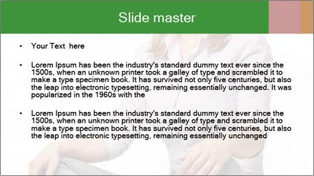 Sit woman PowerPoint Template - Slide 2