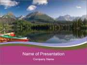 The colorful boats PowerPoint Templates
