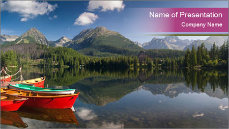 The colorful boats PowerPoint Template