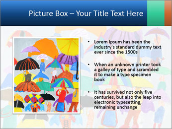 People in a multi-colored PowerPoint Template - Slide 13