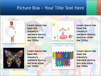 People in a multi-colored PowerPoint Template - Slide 14