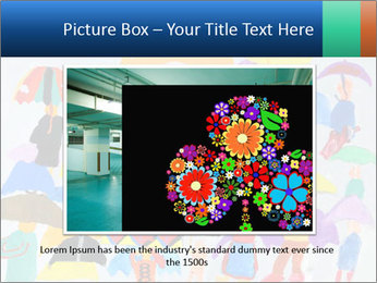 People in a multi-colored PowerPoint Template - Slide 15
