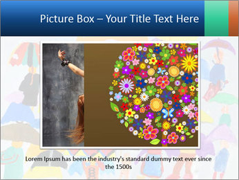 People in a multi-colored PowerPoint Template - Slide 16
