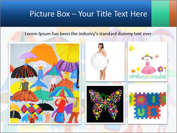 People in a multi-colored PowerPoint Template - Slide 19