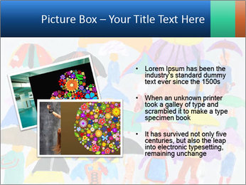 People in a multi-colored PowerPoint Template - Slide 20
