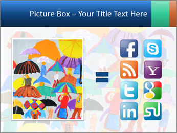 People in a multi-colored PowerPoint Template - Slide 21