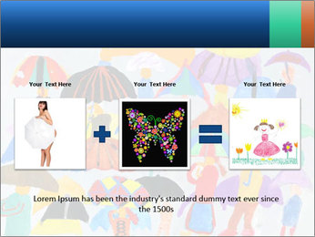 People in a multi-colored PowerPoint Template - Slide 22