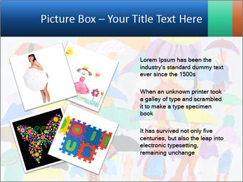 People in a multi-colored PowerPoint Template - Slide 23