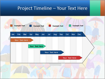 People in a multi-colored PowerPoint Template - Slide 25