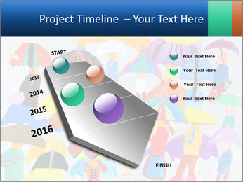 People in a multi-colored PowerPoint Template - Slide 26