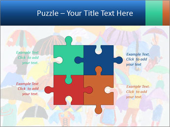 People in a multi-colored PowerPoint Template - Slide 43
