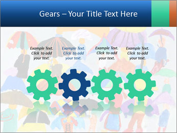 People in a multi-colored PowerPoint Template - Slide 48