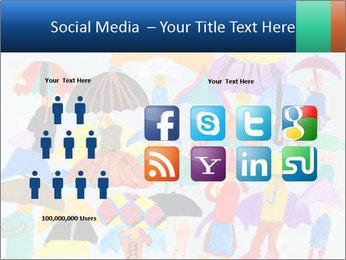 People in a multi-colored PowerPoint Template - Slide 5