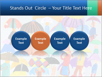 People in a multi-colored PowerPoint Template - Slide 76