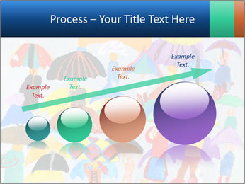 People in a multi-colored PowerPoint Template - Slide 87