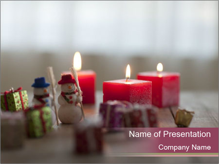 A candle PowerPoint Template