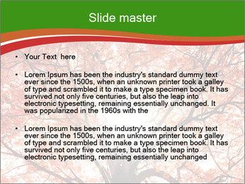 Tree autumn. PowerPoint Template - Slide 2