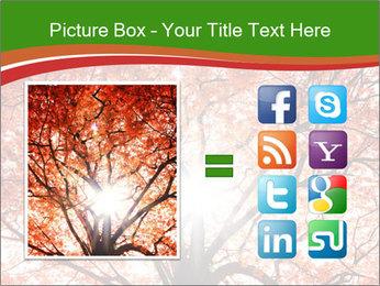 Tree autumn. PowerPoint Template - Slide 21