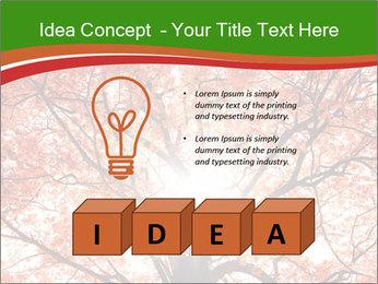 Tree autumn. PowerPoint Template - Slide 80