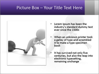 Dragging a heavy metal ball PowerPoint Templates - Slide 13