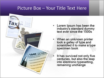 Dragging a heavy metal ball PowerPoint Template - Slide 17