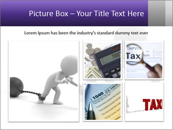 Dragging a heavy metal ball PowerPoint Template - Slide 19