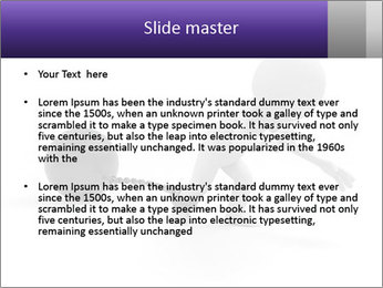 Dragging a heavy metal ball PowerPoint Templates - Slide 2
