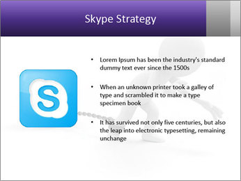 Dragging a heavy metal ball PowerPoint Templates - Slide 8