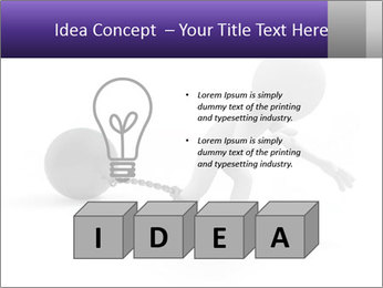 Dragging a heavy metal ball PowerPoint Templates - Slide 80
