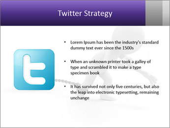 Dragging a heavy metal ball PowerPoint Template - Slide 9