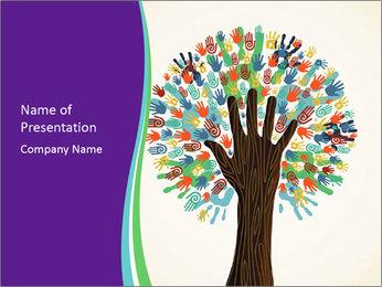 Tree hands PowerPoint Template - Slide 1