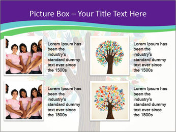 Tree hands PowerPoint Template - Slide 14