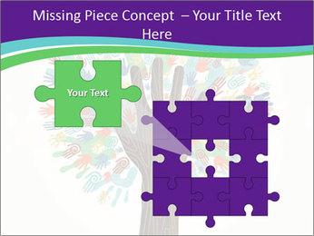 Tree hands PowerPoint Template - Slide 45