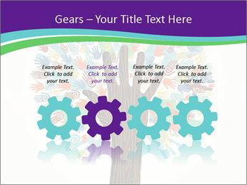 Tree hands PowerPoint Template - Slide 48