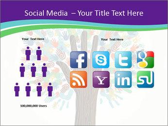 Tree hands PowerPoint Template - Slide 5